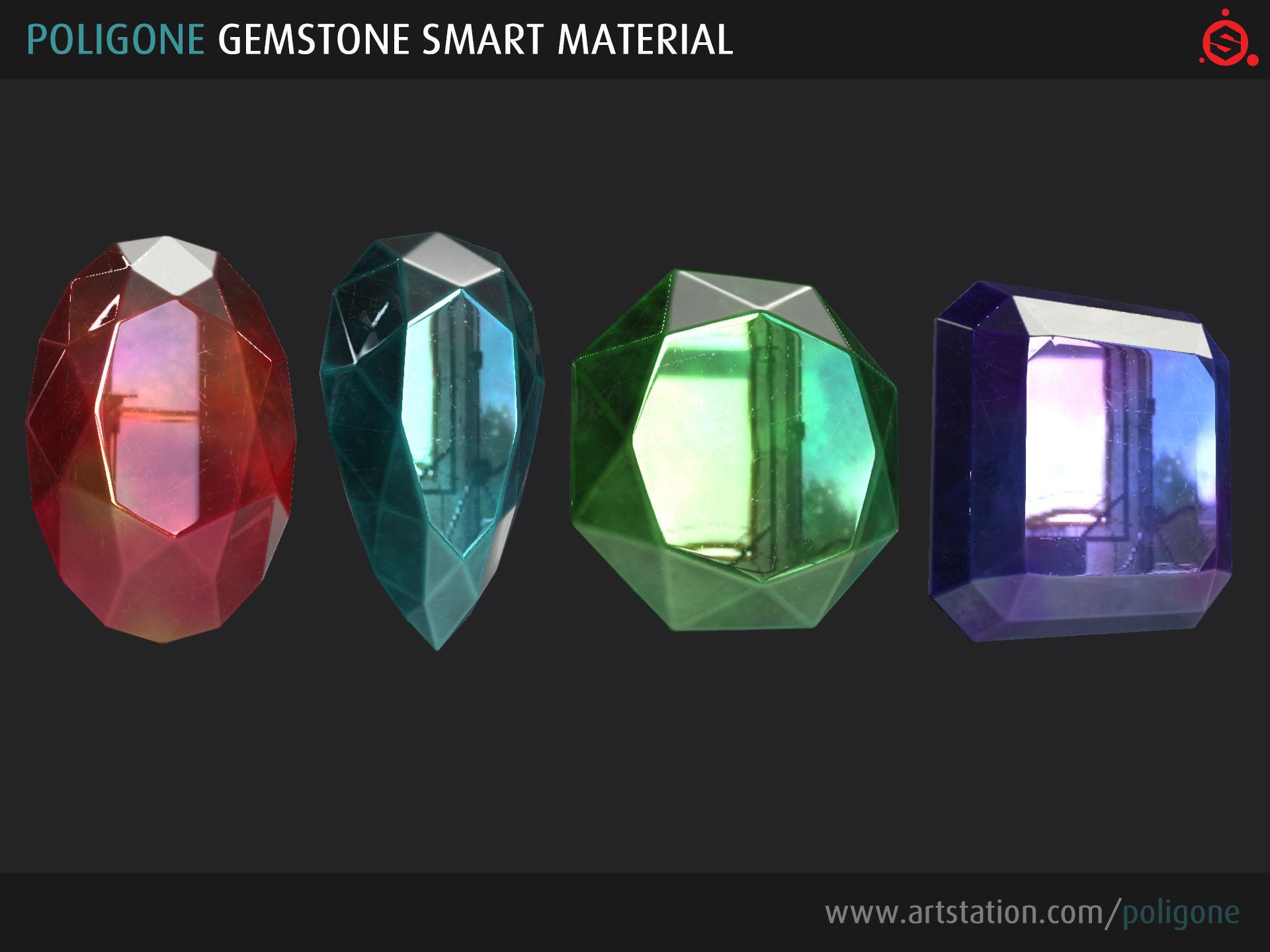 Poligone Gemstone Smart Material for Substance Painter