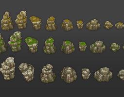 Rock Formation Pack 3 3D asset