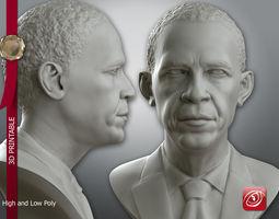 3d print model obama bust