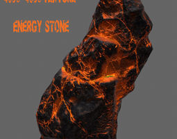 Glowing Rock 3D asset game-ready