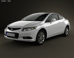 3d model honda civic coupe 2013