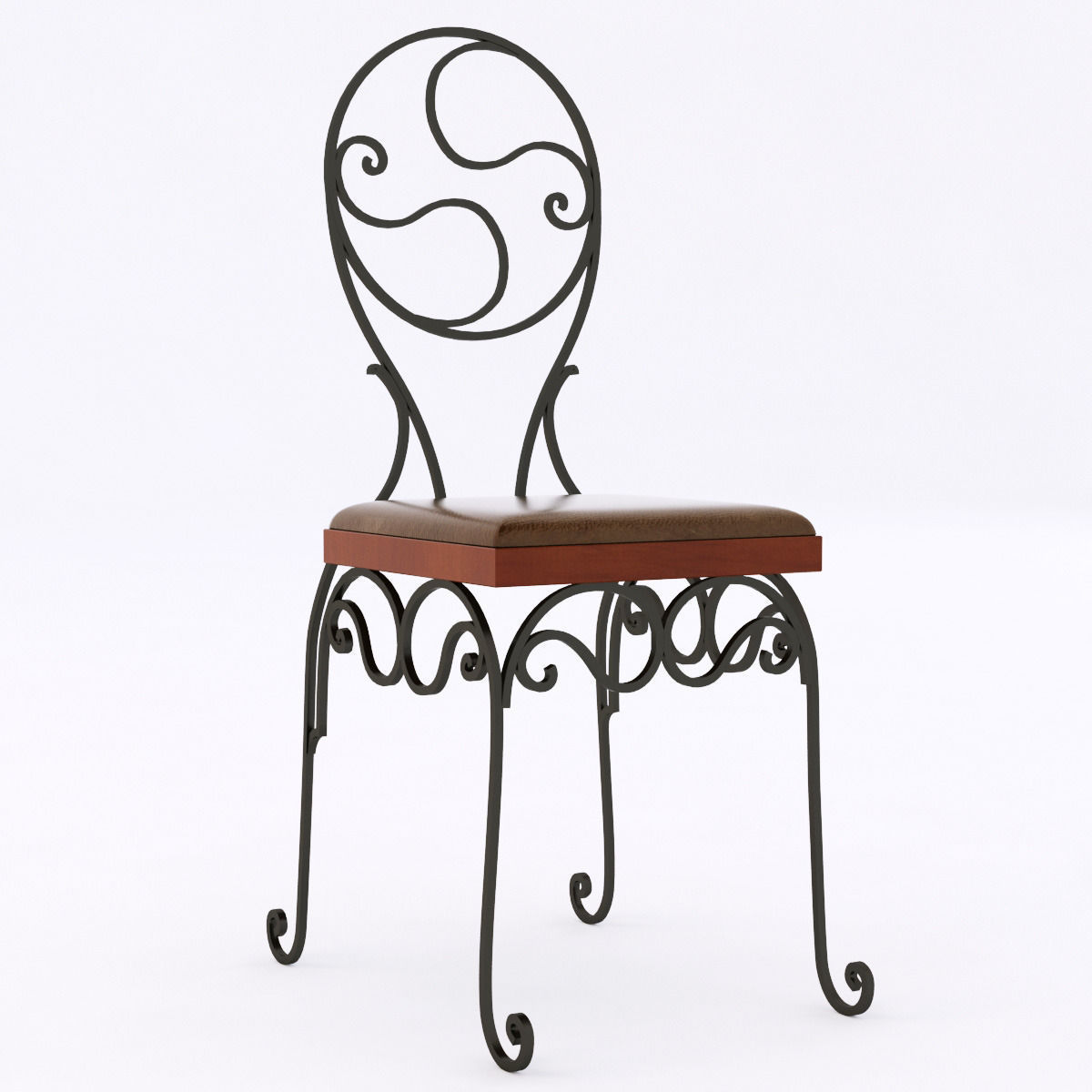 Ideal 3D model wrought iron chair | CGTrader WF13