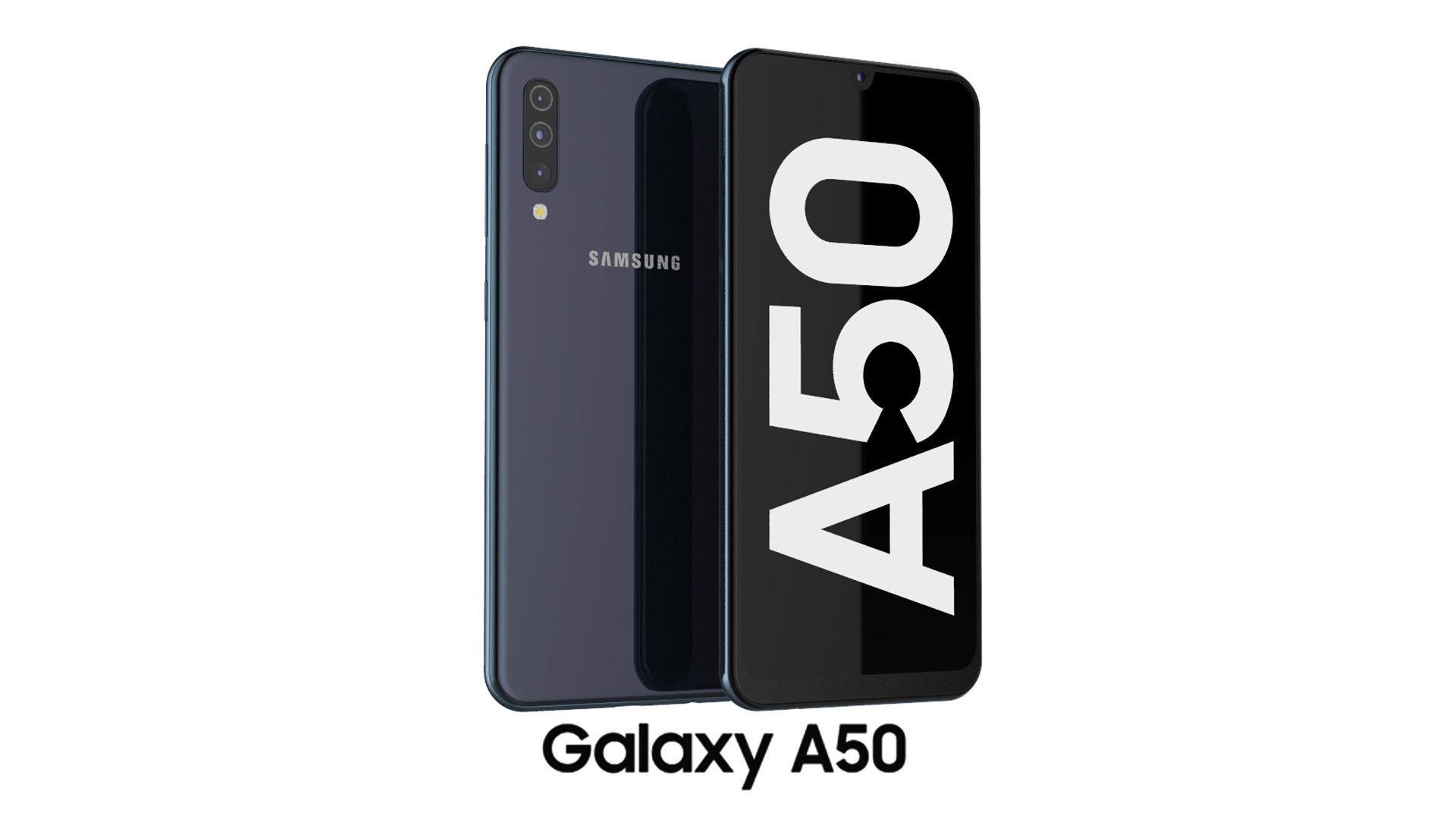 3d Model Samsung Galaxy A50 Black Cgtrader