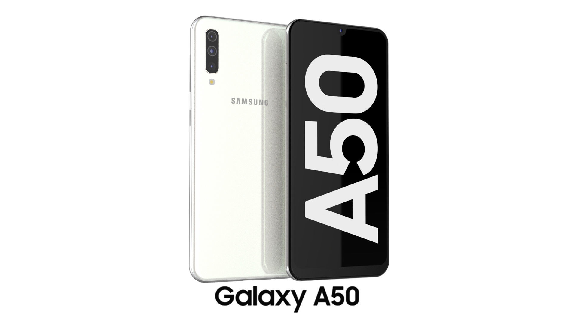 3d Model Samsung Galaxy A50 White Cgtrader