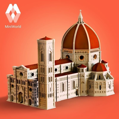 florence cathedral 3d model 3d printable stl