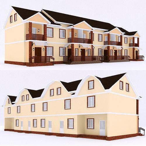 modern townhouse 3 3d model max obj fbx mtl 1