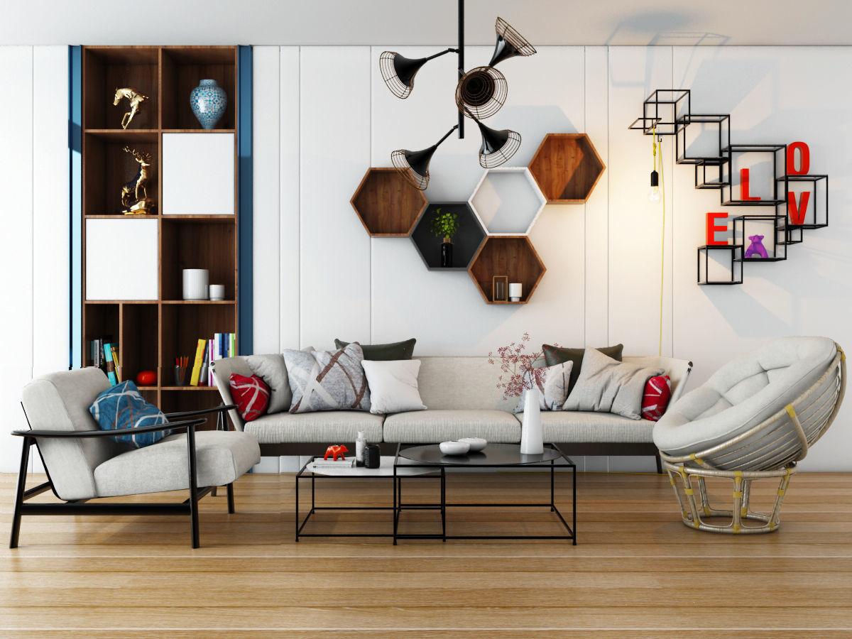 Livingroom modern sofa set 5 | 3D model