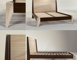sleeping sleep 3D Modern Bed with bedding