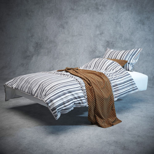 modern bed with bedding 3d model max obj fbx mtl 1