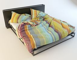 3D sleep Modern Bed with bedding