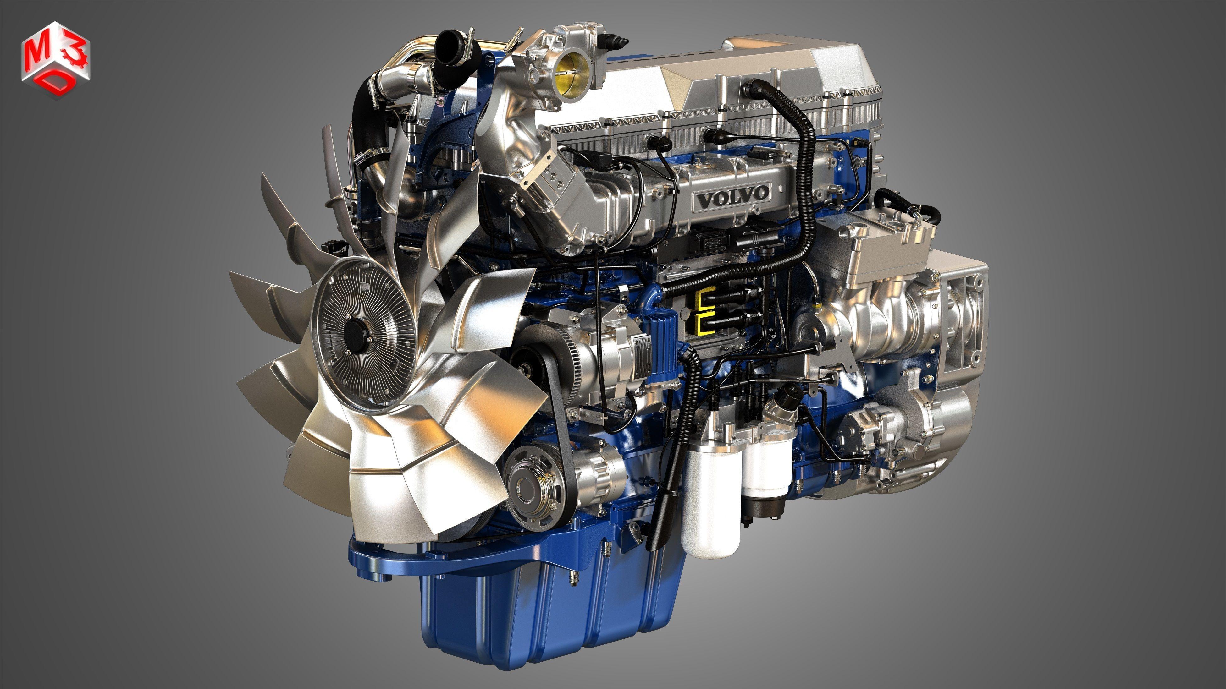 D13 Heavy Duty Truck Engine - 6 Cylinder Diesel Engine