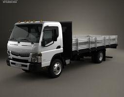 3D model Mitsubishi Fuso Flatbed Truck 2013