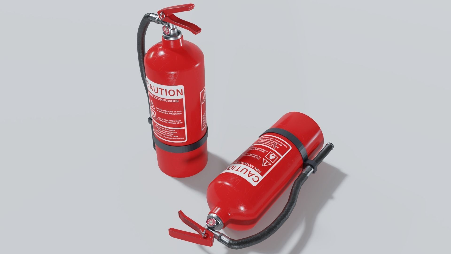 Fire Extinguisher 3D Model Game ready prop