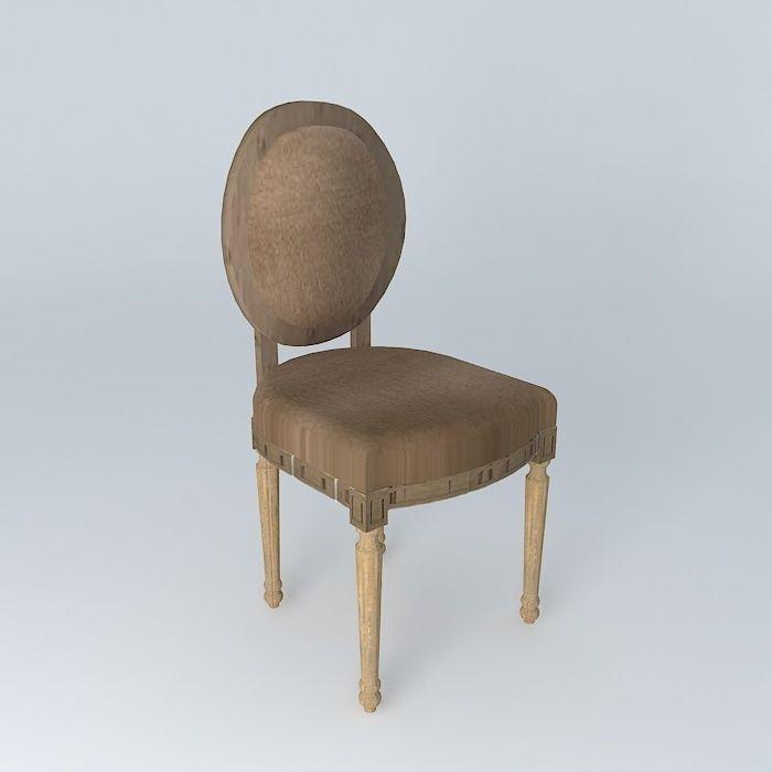 Brown Chair Louis Houses The World 3d Model Max Obj 3ds Fbx Stl Dae