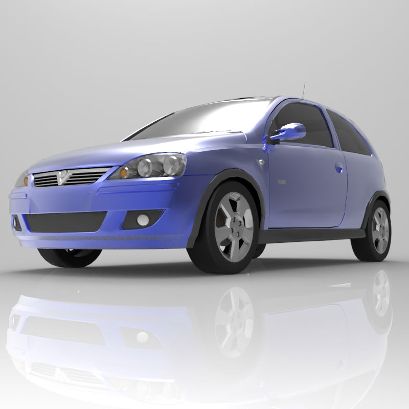 Vauxhall Corsa SRI 2004 3D Model OBJ MTL