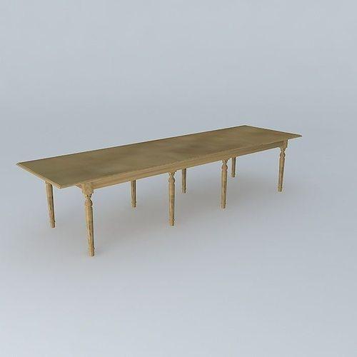 dining table atelier maisons du monde 3d cgtrader. Black Bedroom Furniture Sets. Home Design Ideas