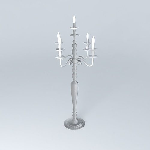 floor lamp candelabra maisons du monde d model max obj ds. Black Bedroom Furniture Sets. Home Design Ideas