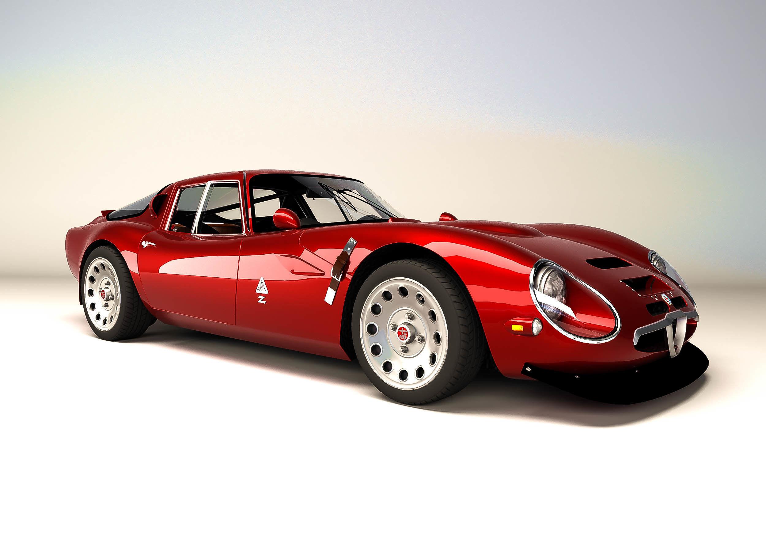 Alfa Romeo Models >> Alfa Romeo Giulia Tz2 1965 3d Model