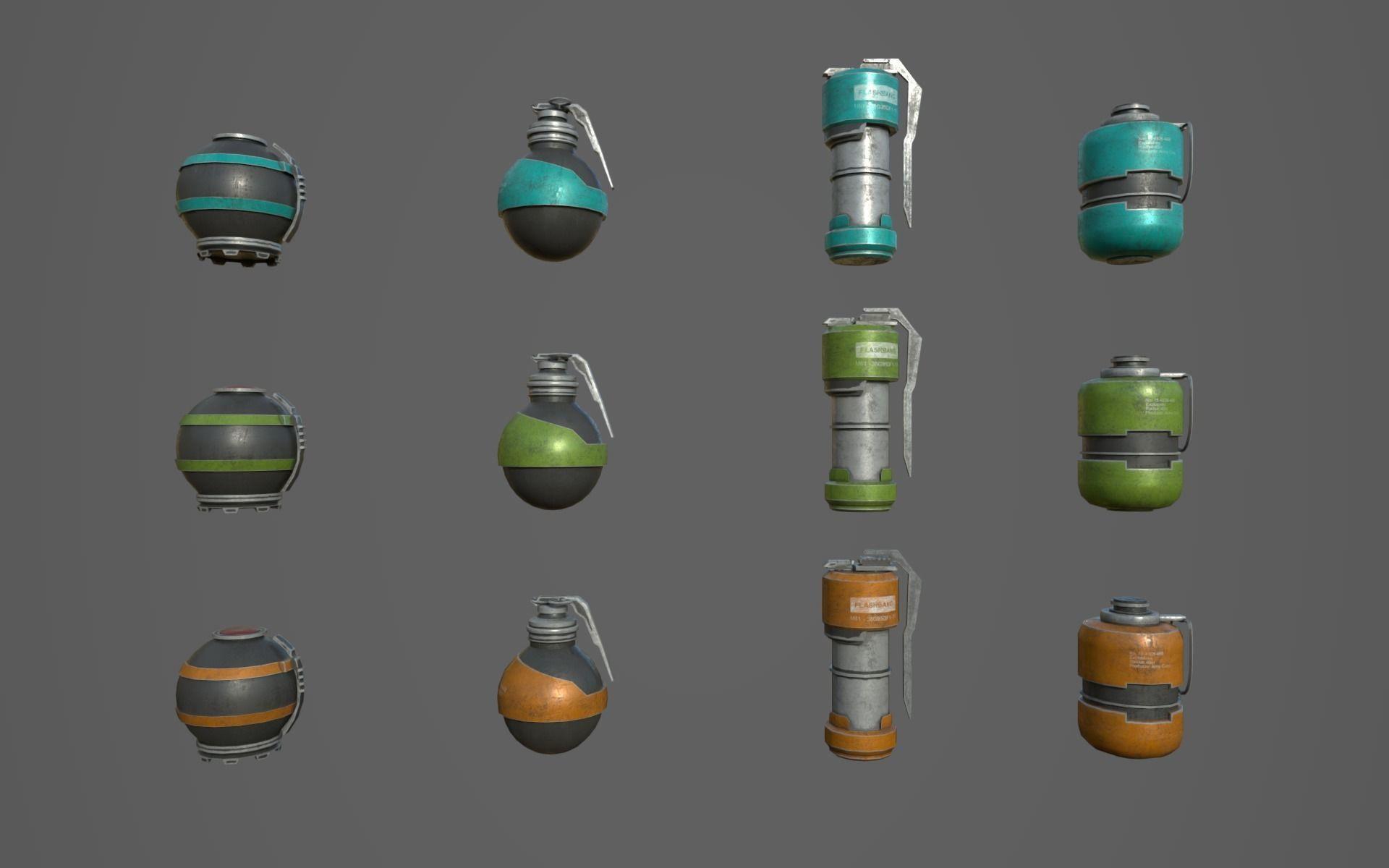 Sci Fi Grenades