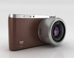 Samsung NX Mini Smart Camera Brown 3D Model