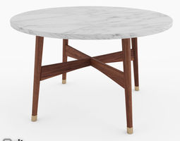 Reeve Mid-Century Round Coffee Table by West Elm 3D Model