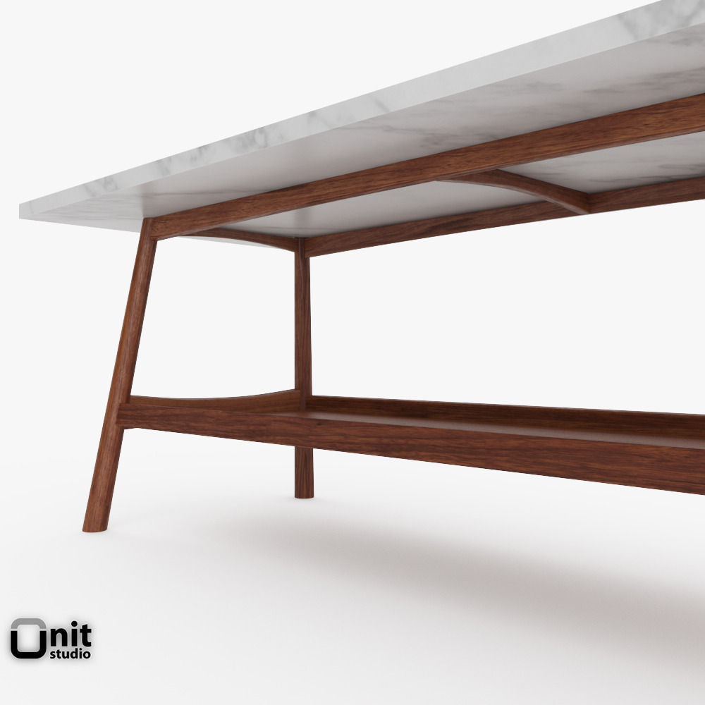 reeve mid century rectangular coffee table by west elm 3d model max obj 3ds fbx dwg Reeve Mid Century Rectangular Coffee Table