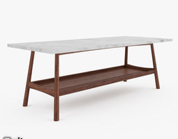 Reeve Mid-Century Rectangular Coffee Table by West Elm 3D Model