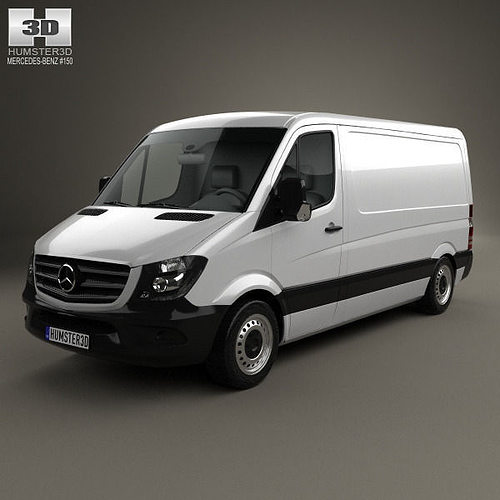 mercedes-benz sprinter panel van swb sr 2013 3d model max obj mtl 3ds fbx c4d lwo lw lws 1