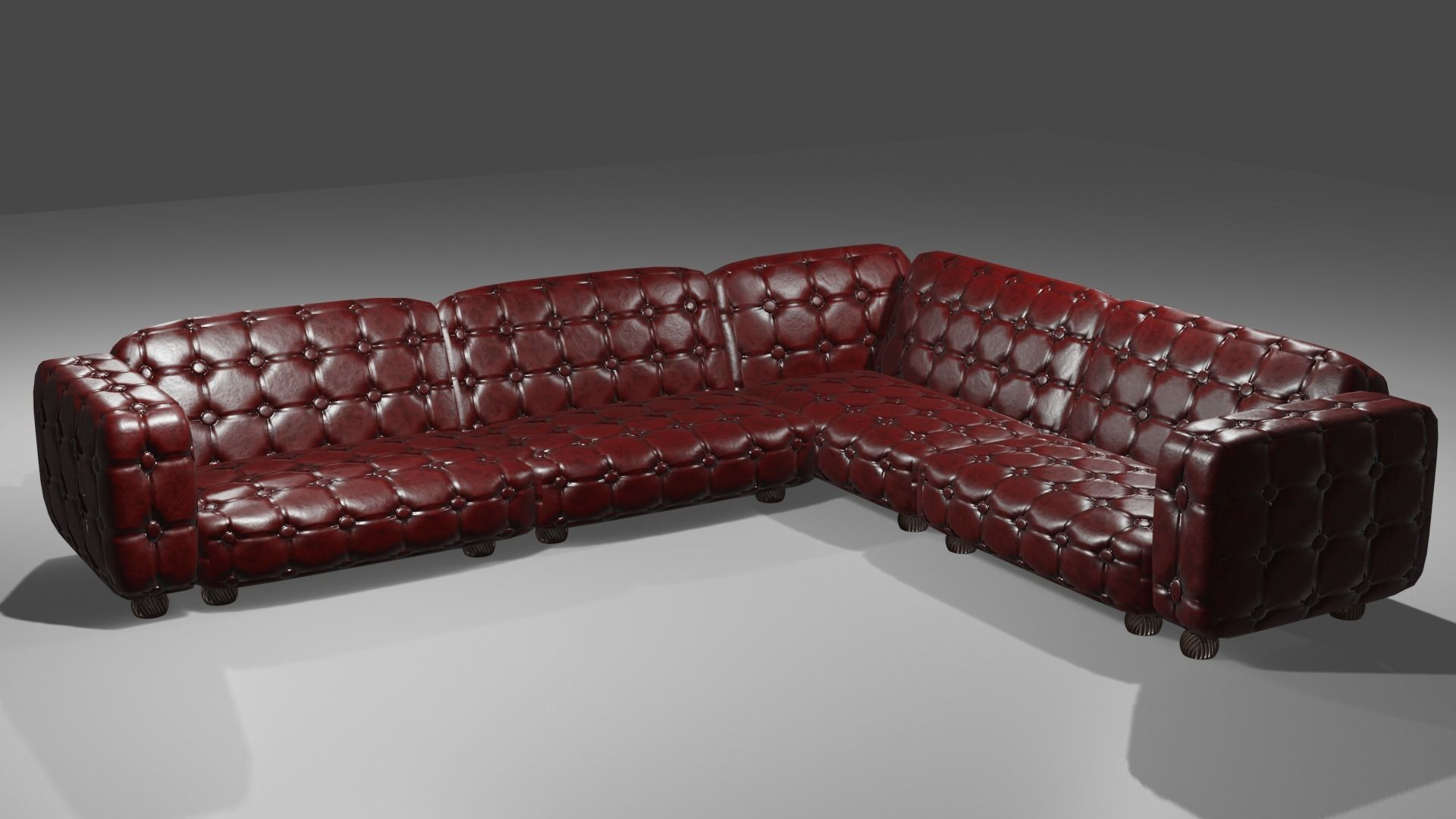 Phenomenal Game Ready Dark Brown Red Leather Sofa Couch 3D Model 3D Model Dailytribune Chair Design For Home Dailytribuneorg