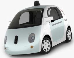 google self-driving car 3d model max obj 3ds fbx c4d lwo lw lws