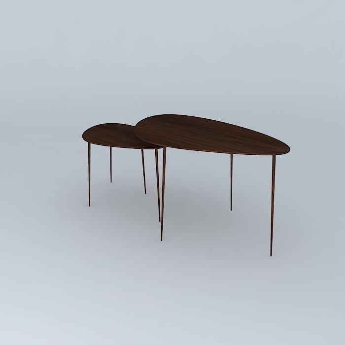 The Architect Coffee Table 3d Model Max Obj 3ds Fbx Stl Skp 1