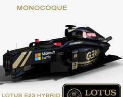 3D asset Lotus E23 Monocoque