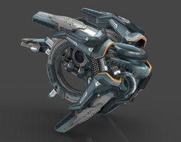 drone v9 cybertech VR / AR ready 3d asset