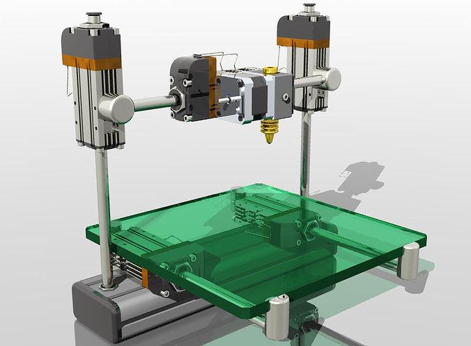 3d Printer My Vision Cgtrader