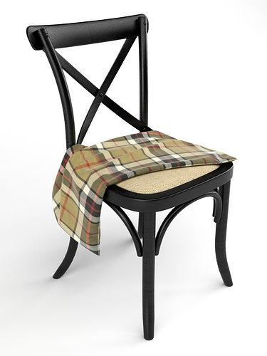 Cross Back Chairs 3d Model Max Obj Mtl 1
