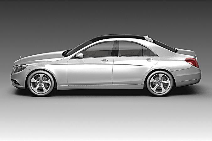 Superior ... 2014 Mercedes Benz S Class 3d Model Max Obj Mtl 3ds Fbx C4d Lwo Lw Lws  ...