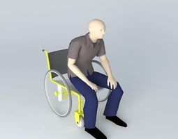 wheelchair 3d
