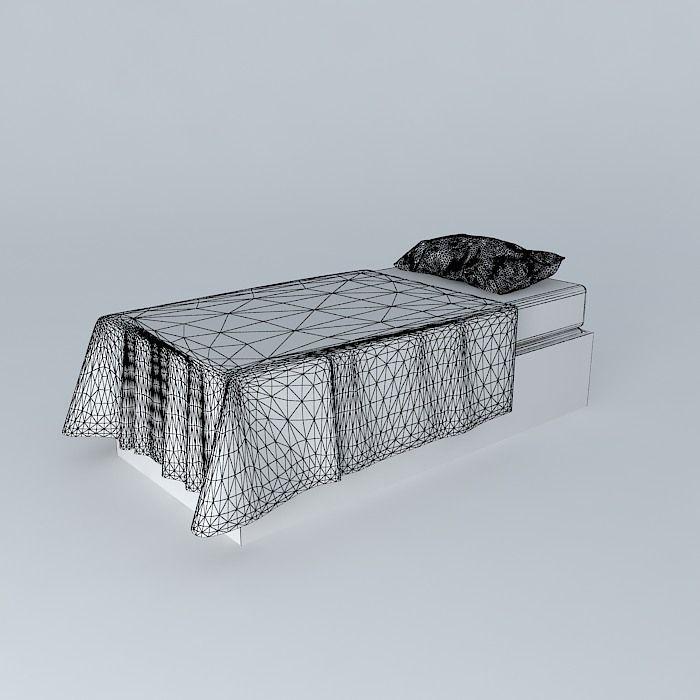 Single Bed Simple : Single Bed - Simple free 3D Model MAX OBJ 3DS FBX STL SKP  CGTrader ...