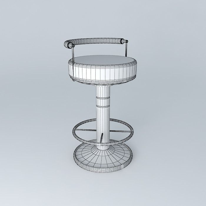Sailor Stool High Barstool Modern Free 3d Model Max Obj