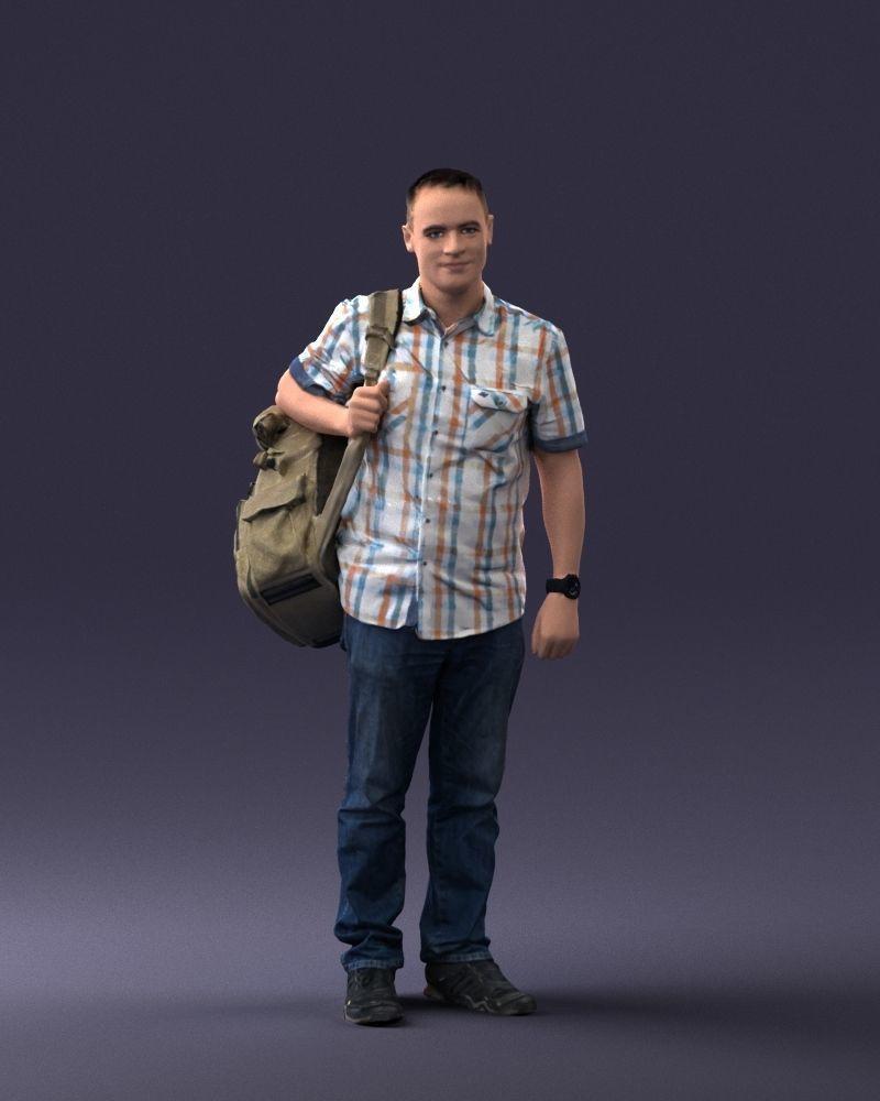 Man with bag 0824