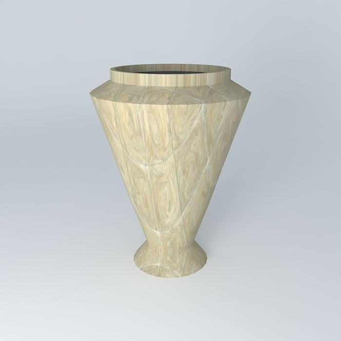 Ceramic vase decoration free 3d model max obj 3ds fbx for Decoration 3ds max