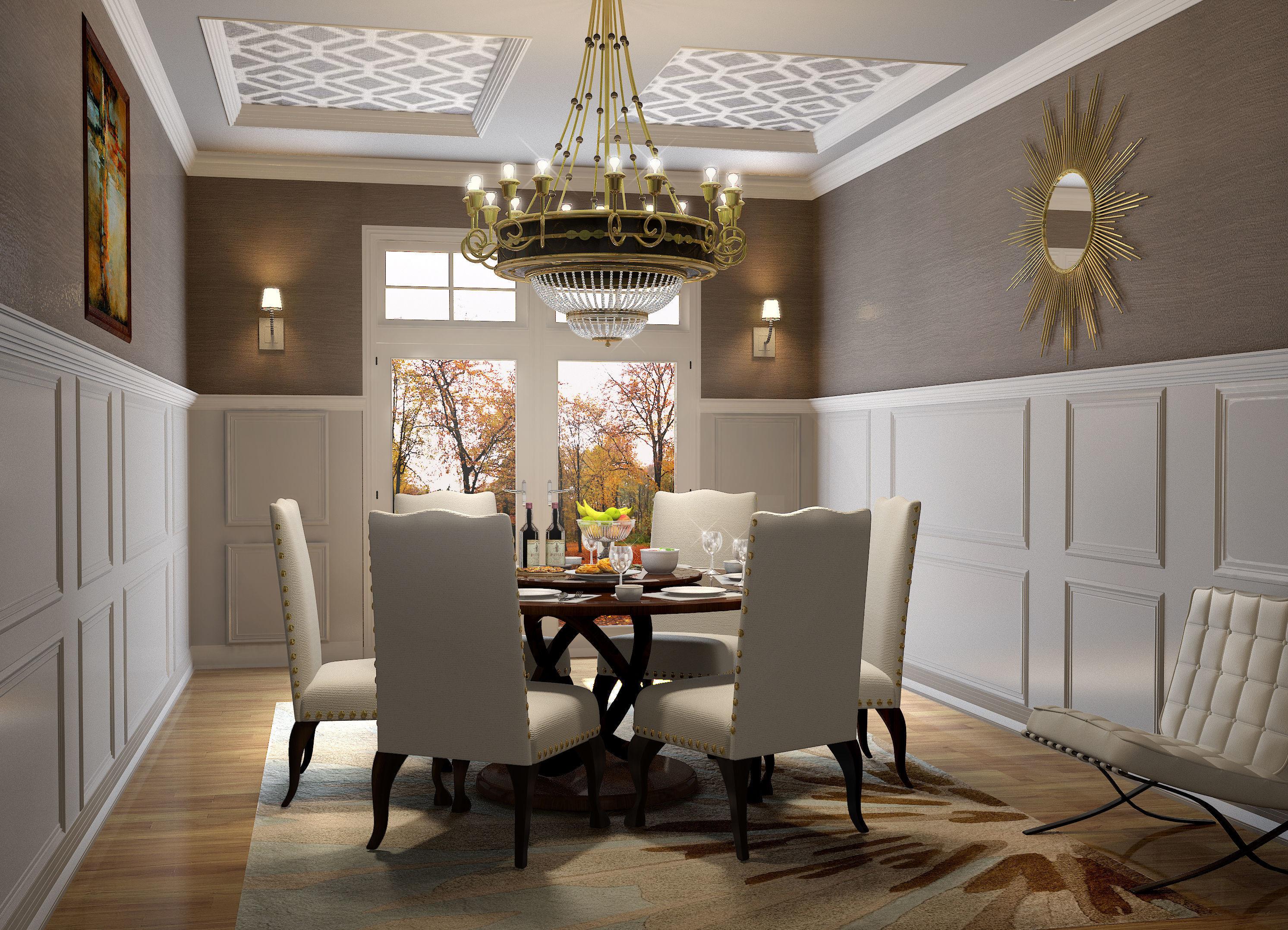 Modern Classic Dining Room | 3D model