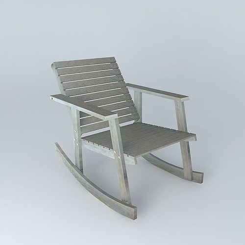 Rocking chair alabama 3d model max obj 3ds fbx stl skp - Rocking chair jardin ...