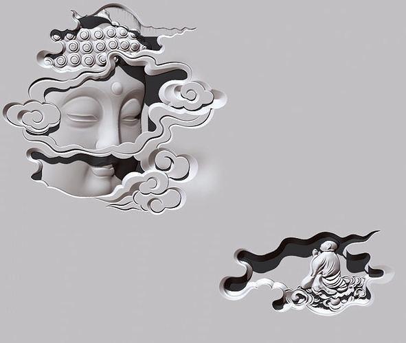 Buddha Head CNC carving statue