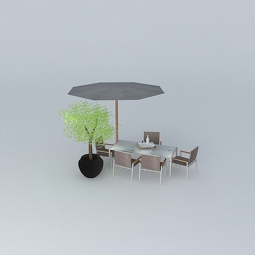 garden furniture antalya 3d model max obj 3ds fbx stl skp 2