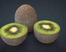 3d model low-poly realistic kiwi