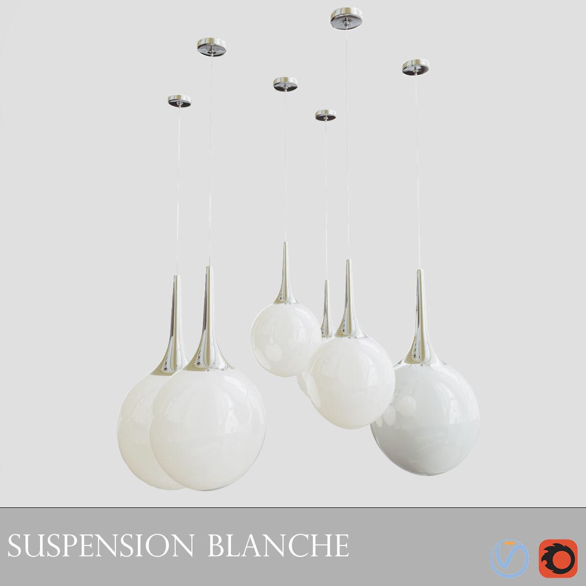 Suspension Blanche Chambre | 3D model