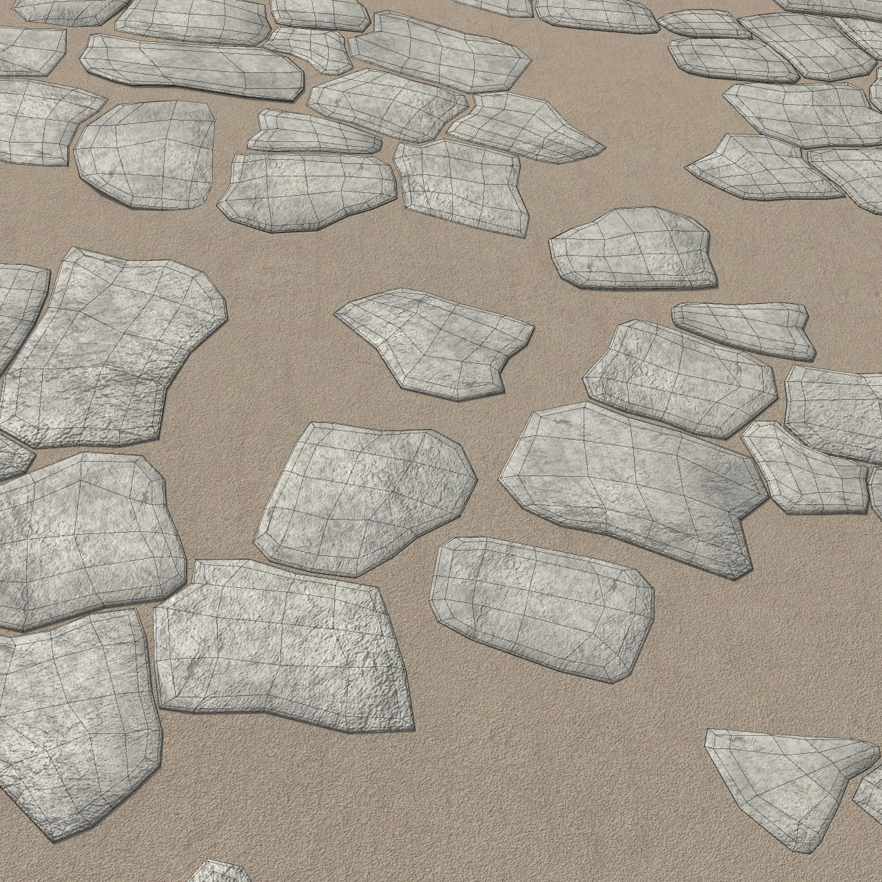 Rock Tiles 3D Model OBJ FBX MA MB | CGTrader.com on Tile Models  id=25876