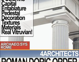 Roman Doric Order Elements 3D model