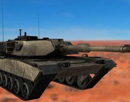 3D asset M1 Abrams Rigged Tank